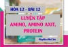 Bài tập luyện tập Amin, Amino axit và Protein có đáp lời giải - Hóa 12 bài 12